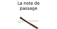 La note de passage