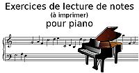 Lecture de notes pour piano à imprimer