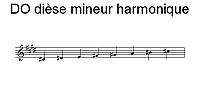 Gamme de DO dièse mineur harmonique