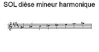 Gamme de SOL dièse mineur harmonique