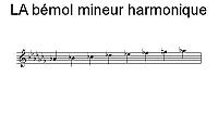 Gamme de LA bémol mineur harmonique