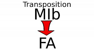 Transposer une partition en MIb pour un instrument en FA
