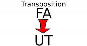 Transposer une partition en FA pour un instrument en UT