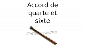 Accord de quarte et sixte