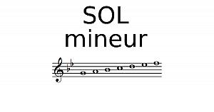 Gamme de SOL mineur