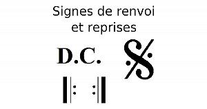 Signes de renvoi et reprises