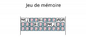 Jeu de mémoire (les paires)