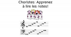 Choristes: Apprenez à lire les notes!