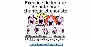 Exercice de lecture de note pour chanteur et choriste