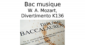 Mozart, Divertimento K136