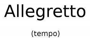 Allegretto (tempo)