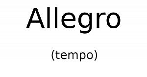 Allegro (tempo)