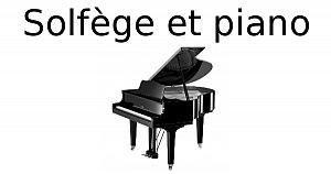 Solfège et piano