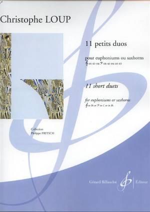 11 petits duos pour saxhorn ou euphonium couverture