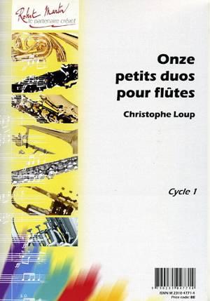 11 petits duos pour débutants à la flûte traversière couverture