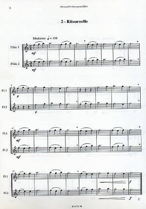 11 petits duos pour débutants à la flûte traversière extrait