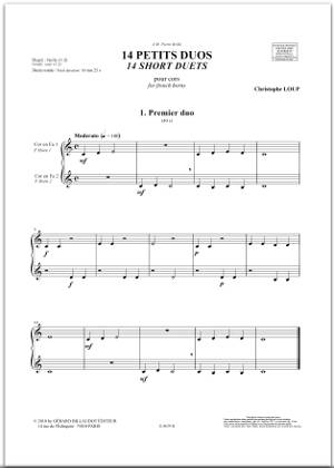 14 petits duos pour cor - christophe loup - 1