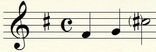 altération à la clef en musique contemporaine