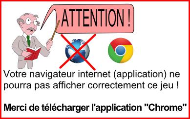 Avertissement navigateur natif Android