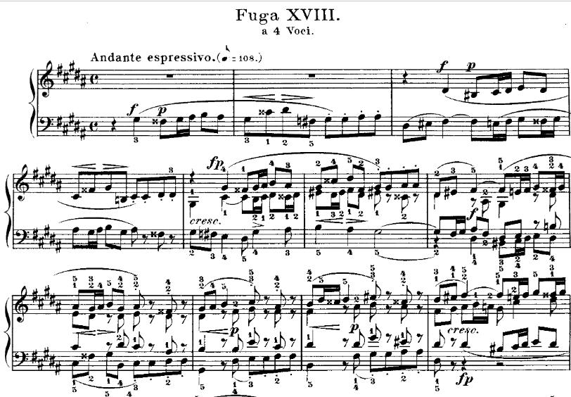 J.S. BACH, Fugue n°18 en SOL dièse mineur BWV 863 (livre 1 du clavier bien tempéré)