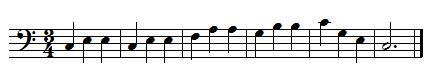 exemple de ligne de basse d'une valse