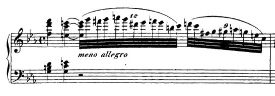 exemple de nonolet dans la sonate pour piano No.32, Op.111 de Beethoven