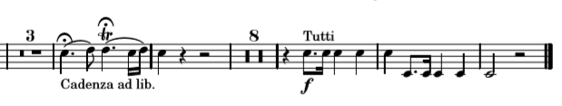 cadence et trille dans le concerto n°3 pour cor de Mozart
