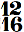 chiffrage de mesure 12/16
