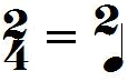 Chiffrage de mesure 2/4 (extrapolation)