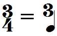 Chiffrage de mesure 3/4 (extrapolation)