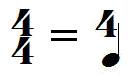 chiffrage de mesure 4/4 extrapolation
