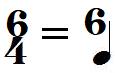Chiffrage de mesure 6/4 (extrapolation)
