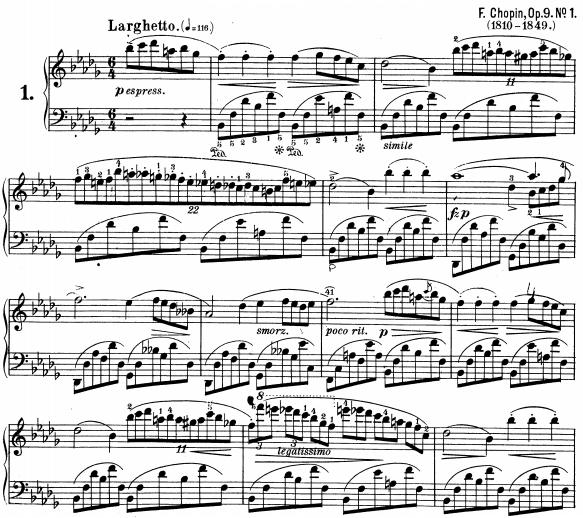 Nocturne opus 9 n°1, Chopin