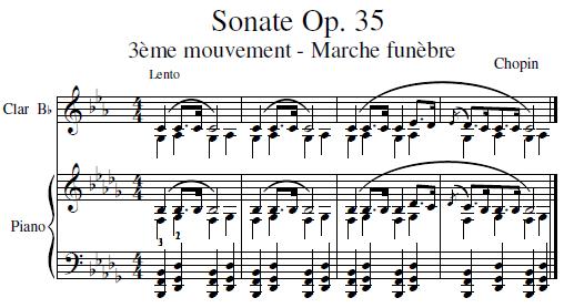 sonate opus 35, 3ème mouvement, marche funebre - CHOPIN