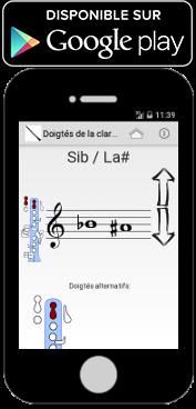 Application android pour les doigtés de la clarinette