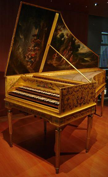 Clavecin par Andreas Ruckers (Anvers, 1646) ravalé par Pascal Taskin (Paris, 1780)