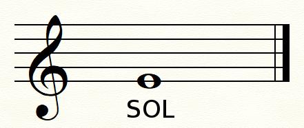 clef de SOL première ligne