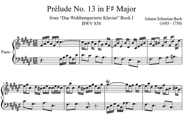 prélude 13 J.S. BACH