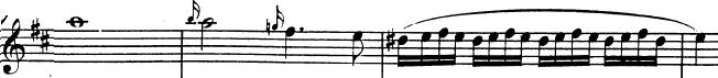Divertimento K136 de Mozart, allegro, développement, thème A en Mi mineur