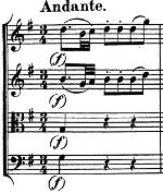 Divertimento K136 de Mozart, andante, début
