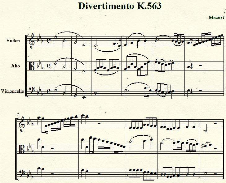 divertimento K563 de Mozart