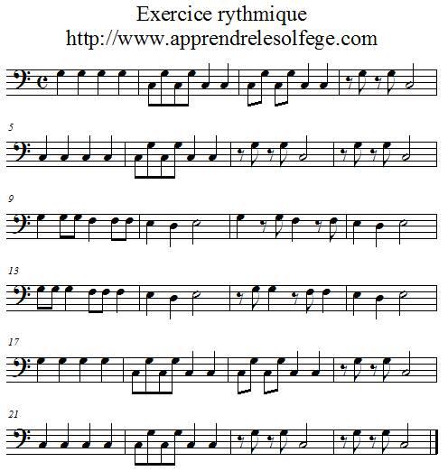 Exercice rythmique binaire 2 fa4
