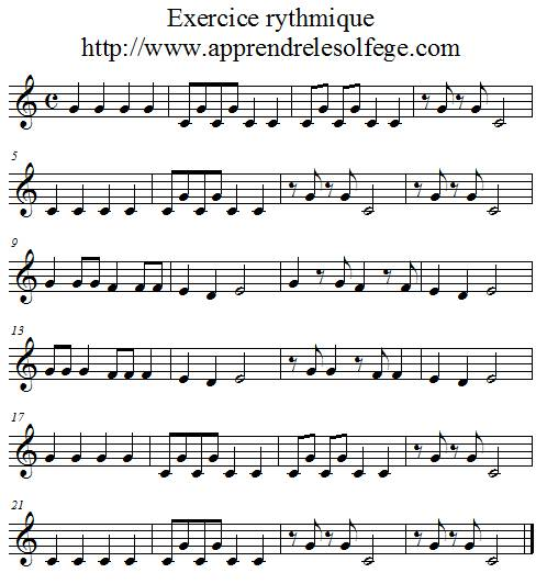 Exercice rythmique binaire 2