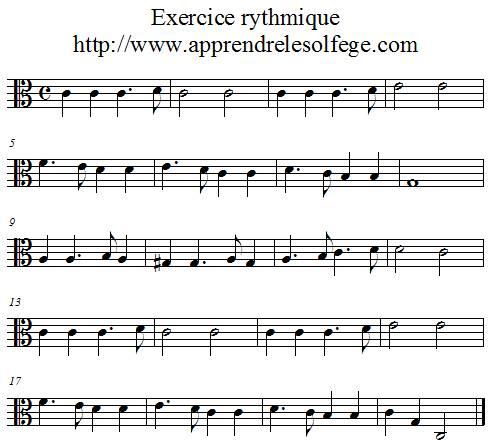Exercice rythmique binaire 3 UT 3
