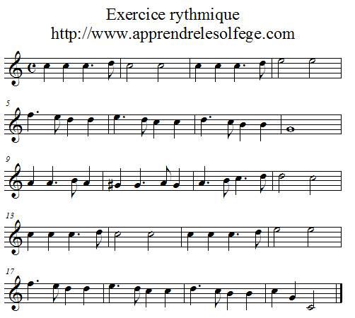 Exercice rythmique binaire 3