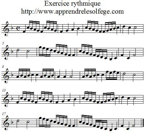 Exercice rythmique binaire 4 - Apprendre le solfège