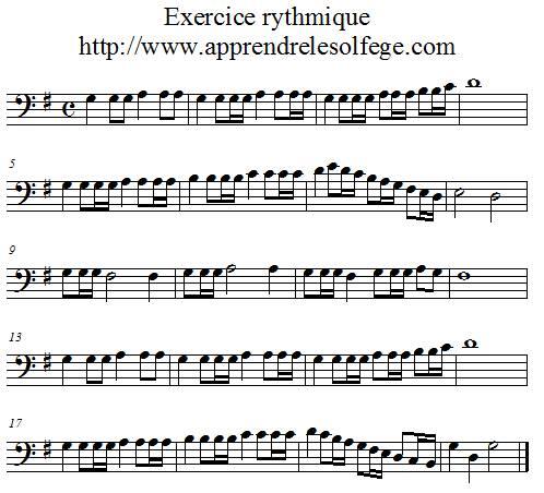 Exercice rythmique binaire 5 FA 4