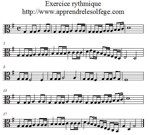 Exercice rythmique binaire 5 ut3