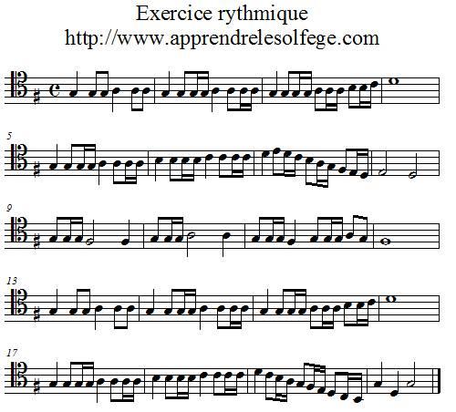 Exercice rythmique binaire 5 ut4