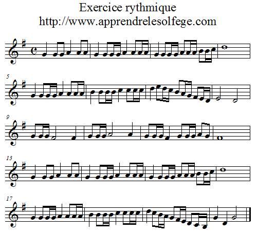 Exercice rythmique binaire 5